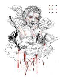 Angel Aleph I chinese ink on paper I 21x29 cm I 2017