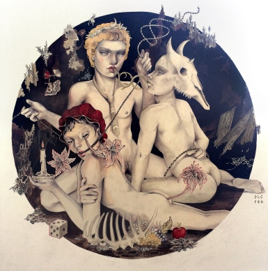 Red Riding Hood and his Friends I ink and aquarelles on paper I 70x70 cm I 2016