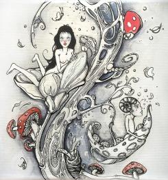 Tree I chinese ink on canvas I 20x20 cm I 2012